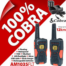 Cobra AM1035FLT 2 vías Walkie Talkie Radios 12 km Impermeable Paquete doble flotante