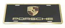 Genuine Porsche Metal Vanity Plate License w/ Full Color Crest OEM PNA701005