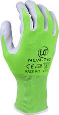 Ladies UCi NCN 740 Coated Durable Gardening Safety Work Gloves Nylon Green Grip