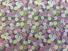 Lewis /& Irene 100/% cotton fabric FQ//Metre TIMSBURY LANE LILAC FLOWER DROPS