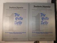 Frankfurter Allgemeine Die erste Seite 1949-1980 ,Band 1 und 2