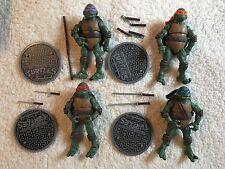 "2012 Viacom Teenage Mutant Ninja Turtle Classic 6"" Set Of 4 Figures USA REAL (A)"