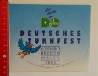 Aufkleber/Sticker: Deutsches Turnfest - Dortmund Bochum 1990 (10081693)