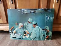 Vintage 1960's Doctor Surgeon Surgical Operation SVE Study Poster Print Hospital