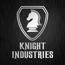 KNIGHT INDUSTRIES Rider Kitt Michael Silber Auto Vinyl Decal Sticker Aufkleber