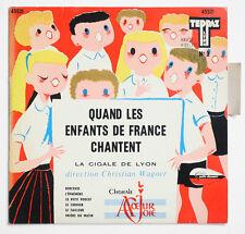 LA CIGALE DE LYON children boys choir french BIEM teppaz 45521 EP +TAG languette