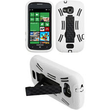 Wht 2-Layer V Stand Case SAMSUNG Verizon US Cellular SCH i930 R860u ATIV Odyssey