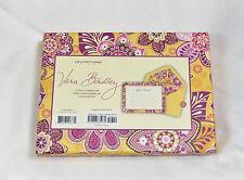 New Vera Bradley INVITATIONS in BALI GOLD MSRP $23 Box of 12 English Garden