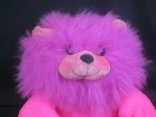 VINTAGE PUFF PLUFFY NYLON HOT Pink SHAGGY MANE LION LUMP PLUSH STUFFED