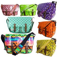 Polka Dot Ladies Oilcloth Saddle/Cross Body/Messenge bag