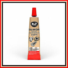 2 X 21G RED HIGH TEMPERATURE SILICONE HEAT RESISTANT GLUE ADHESIVE SEALANT NEW