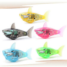Battery Powered Robot Fish Electronic Shark Toy Lighting Swimming Bath Toy