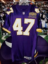 JOEY BROWNER #47 MINNESOTA VIKINGS JERSEY 1961-2000 ANNIVERSARY PATCH SIZE 44 L