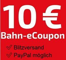 10€ Gutschein Deutsche Bahn bis 12.12. ICE / L?ndertickets ?BLITZVERSAND ?PayPal