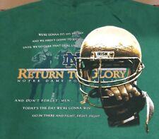 Vtg University of Notre Dame Fighting Irish T shirt Xl Return to Glory 2002