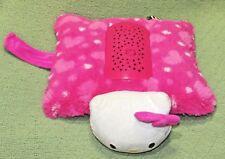 "HELLO KITTY PINK Pillow Pets DREAM LITES WORKS Plush SANRIO Night Light 12"" Toy"