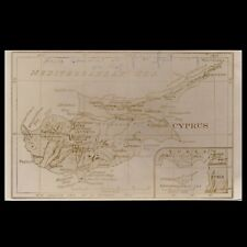 CYPRUS OLD USED POSTCARD WITH THE MAP OF CYPRUS