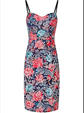 Joe Browns Size 10 Party The Night Away Multi Floral DRESS Occasion Evening £50