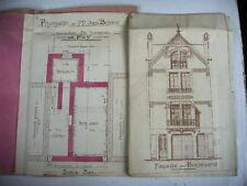 plan maison ancienne située au Puy