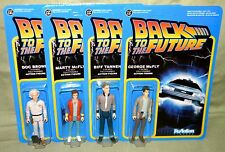 BACK TO THE FUTURE ReAction Set of 4 DOC MARTY GEORGE BIFF Retro Figure Funko