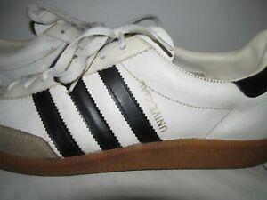 Vintage 80er Adidas Universal Echtleder Turnschuhe Gr.43 Uk:9 weiches Leder