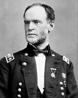 US Union Army General WILLIAM TECUMSEH SHERMAN Glossy 8x10 Photo Civil War Print