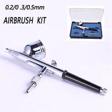 Dual Action Airbrush Kit Air Brush Spray Gun Paint Art 0.3mm Manicure UK HD-130