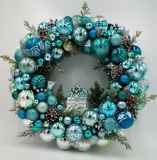 Winter Twilight Tableau Christmas Ornament Wreath