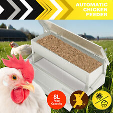 Auto Chicken Feeder Automatic Aluminum Chook Poultry Treadle Self Opening Coop