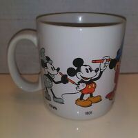 Vintage 1986 Applause Walt Disney Mickey Mouse Mug Through the Years 1928-1955