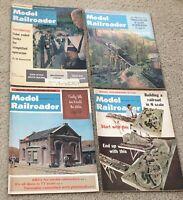 Model Railroader Magazine 1965 1966 Lot of 4