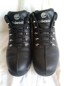 MENS TIMBERLAND BOOTS. BLACK LEATHER TIMBERLAND BOOTS SIZE UK 10½. EU 45.