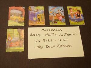 Australia 2009 Inventive Australia SG 3137 to 3141 Used/self adhesive