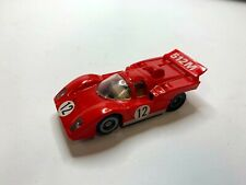 Vintage 1970'S Slot Cars Neat #12 Red 512M Racer Tyco Slot Car