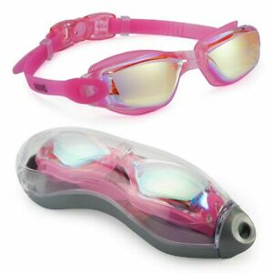 new Swimming Goggles No Leaking Anti Fog UV Protection Adult Men Women Kids PINK