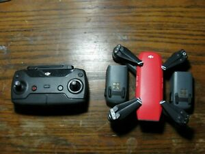 DJI Spark Lava Red Fly More Combo - Very Good Condition