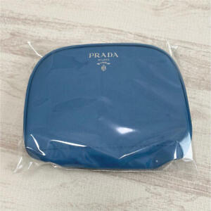 PRADA Novelty Cosmetics Pouch blue limited japan Not for sale F/S NEW