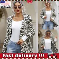 Winter Womens Hooded Fluffy Coat Jacket Ladies Casual Loose Fleece Outwear Warm