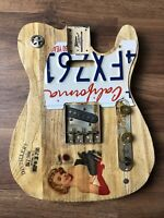 Pistols Crown Guitars Barncaster Telecaster Relic BODY ONLY Natural Drunk Lady