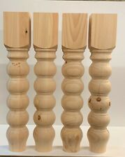 5 inches Dining Table Legs- Wood Legs. Turned Legs. Hardwood. Chunky. big Legs