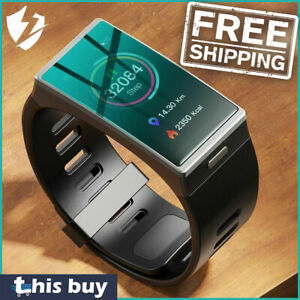 2021 Smart Watch Bluetooth 48mm For iPhone Ios And Android Black Band Waterproof