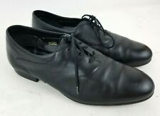Roblee Mens Size 9 Black Leather Lace Up Oxford Dress Shoes 825R10