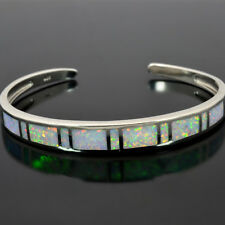 White Opal Bangles Top Quality Silver Plated Fashion Jewelry For Women