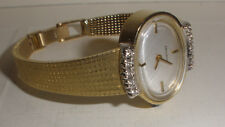 Nice vintage Movado 14k solid gold with diamonds ladies watch hand winding runs