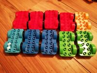 10 LEGO DUPLO  VEHICLE BASES  NICE CONDITION ASSORTED COLOURS