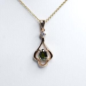 Natural Alexandrite Pendant Alexandrite Diamond Pendant 18K Rose Gold