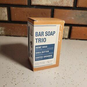 Home and Body Co. Soap Bar Trio- Hemp Seed, Shea Butter & Coffee - Free Shipping