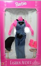 Barbie, Fashion Avenue, # 14670 - Jean overall and Hot Pink Top - Nrfb