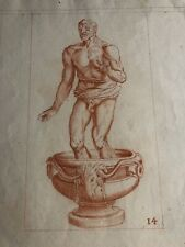 French 18th Century Old Master Drawing in Red Chalk