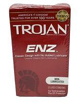 Trojan Enz Non Lubricated Condoms 1 Pack 12 Latex Condoms Expires 03-01-2024